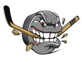 13603952-mascotte-sport--hockey-puck-piqures-et-les-pauses-de-hockey-stick